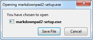Firefox Step 1: Download the MarkdownPad installer.